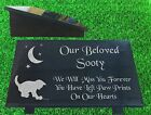 granite pet kitten memorial plaque grave marker
