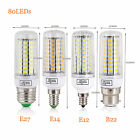 E27 E14 E12 B22 LED Corn Bulb 5730 SMD Light Corn Lamp Incandescent 20W - 160W