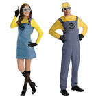 Minions Fancy Dress Party Despicable ME 2 Minion Mens Womens Costume Outfit