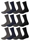 12 Pairs Mens Cotton Soft Socks Casual Dress Suit Socks Black Assorted & Argyle