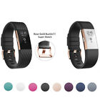 Fitbit Charge 2 Heart Rate +Fitness Wristband Rose Gold Bracelet 9 Color LARGE