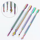 BORN PRETTY Stainless Steel Cuticle Pusher Remover Rainbow Manicure Pedicure Kit