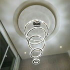 New Modern Galaxy Crystal Chandelier Circles Pendant LED Light Ceiling Lamp