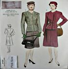 Vogue Sewing Pattern 2199 Ladies 10 Vintage Model 40's War Yrs Suit Skirt Jacket