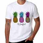 Pineapple O-neck Short Sleeve Cotton Comfortable Top tee Funny Soft T-shirt