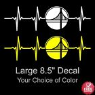 Large Golden State Warriors Heartbeat Vinyl Decal Sticker 8.5 inches Free S/H on eBay