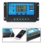 10A 20A 30A 12V/24V Solar Panel Charger Controller Battery Regulator USB LCD New