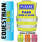 Kids Equestrian Hi-Vis,Viz,Visibility Reflective Safety Vest Jacket 'wide/slow'