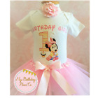 First birthday outfit ,Minnie Mouse Inspired outfit,Pink tutu set,Handmade