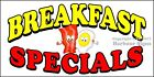 (CHOOSE YOUR SIZE) Breakfast Specials DECAL Food Truck Vinyl Sign Concession