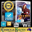 (Wii Game) Iron Man (M) (Genre) PAL, Guaranteed, Cleaned, Tested, Australian