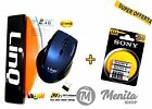 MOUSE WIRELESS 2.4 G + 1 CONFEZIONE PILE AAA MINI STILO SONY