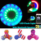 LED Bluetooth Speaker Tri Fidget Colorful Hand Spinner Fidget Finger Gyro EDC