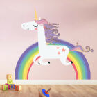 Unicorn Bulwark Sticker Rainbow Wall Decal Art Girls Bedroom Nursery On Decor