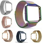 Milanese Stainless Steel Magnetic Loop Wrist Band Strap + Frame For Fitbit Blaze image