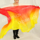 +CARRY BAG HAND MADE BELLY DANCE 100% SILK VEILS (5.0 M/M) 1.14M*2.7M MULTICOLOR