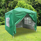 2.5x2.5m Pop Up Gazebo Marquee Outdoor Garden Party Tent Canopy 4 Side Panels