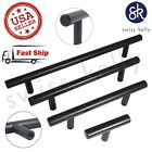 Matte Black Kitchen Door Cabinet Handle T Bar Pull Steel Drawer Pulls
