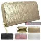 NEW LADIES SEQUIN CREDIT CARD CASH COIN ZIPPED WALLET PURSE