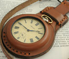 Steampunk WW1 times New Leather Case Strap for Pocket Watch 50mm WWII Military