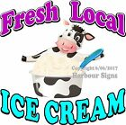 Ice Cream Fresh Local DECAL (Choose Your Size) Food Truck Sign Concession
