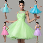 HOT Short Evening Party Ball Gown Prom Wedding Bridesmaid Dress 6 10 12 14 16 20