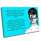 David Bowie Canvas Wall Art Print Framed Picture PREMIUM QUALITY TAB