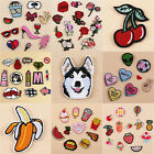 Fab Embroidered Iron Patch Clothes Fabric Sticker Badge Applique Handwork Craft