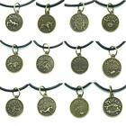 Vintage Bronze 12 Constellation Zodiac Choker Pendent Necklace Jewellery Gift