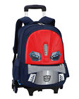 NEW Kids Boy's Wheels Removable Rolling Trolley Backpack Wheeled Bags School Bag