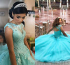 Modest Applique Ball Gown Quinceanera Dress Sweetheart Prom Party Sweet 16 Dress