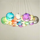 Modern Colorful Bubble Glass Pendant Light G4 LED Chandelier Ceiling Lamp Hot
