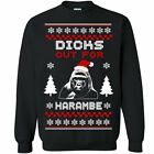 550 Harambe Ugly Christmas Sweater Crew Sweatshirt party dicks out zoo gorilla