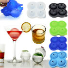 Silicone Whiskey Ice Cube Ball Maker Mold Sphere Mould Party Bar Tray Round