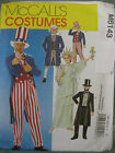 McCalls Sewing Pattern 6143 Adults Medium Sam Tails Suit Top Hat Liberty Costume