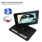 "13.8"" inch Portable DVD Player Widescreen FM Radio Game SD U"