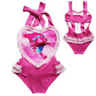 Kids Girls Toddler Kawaii One Piece Trolls Swimwear Swimming Swimsuit Bikini