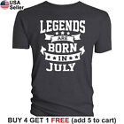 Legends Are Born In Month T-Shirt Birthday Gift Men Women Funny Kings On X157