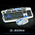 Gaming wireless 2.4G keyboard and Mouse Set to computer Multimedia Gamer New EK