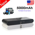 50000mAh Portable Power Bank Backup Battery USB Charger Outdoors For iPhone