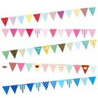 2M 12 Flags Colorful Triangle Pennant Paper Banner String Birthday Party Bunting