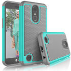 For LG K20 Plus Shockproof Impact Protective Rugged Rubber Hard Case Cover