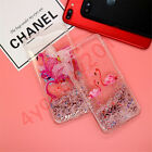 Cartoon Pattern Dynamic Liquid Bling Glitter Quicksand Case Cover For iPhone