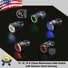 Внешний вид - Angel Eye LED Momentary Stainless Steel Push Button Panel Mount Power Switch LOT
