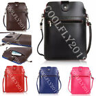 Univeral Zipper Leather Handbag Shoulder Bag Wallet Case Cover For Cell Phones