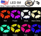 5M Waterproof 3528 SMD 300 LED Strip Rope Lights + DC Connector + Power Supply