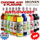 Monin Flavored Syrup Coffee Tea Boba Effervescence Smoothie Hot Cold Drinks 750mL ANY 2