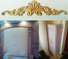 B-Style Unpainted Wood Carved Corner Onlay Applique Furniture Home Decor