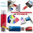 128 256 512GB 1TB OTG Device Flash Drive Storage USB Memory Thumb Key Stick Pen