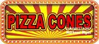 Pizza Cones DECAL (Choose Your Size) Food Truck Concession Vinyl Sticker